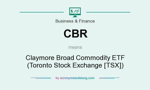 What does CBR mean? It stands for Claymore Broad Commodity ETF (Toronto Stock Exchange [TSX])