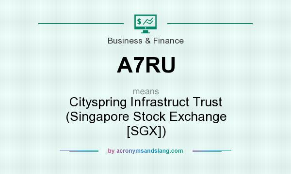 What does A7RU mean? It stands for Cityspring Infrastruct Trust (Singapore Stock Exchange [SGX])