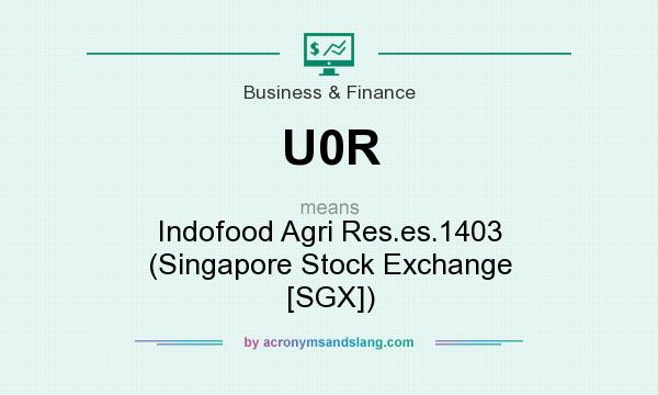 What does U0R mean? It stands for Indofood Agri Res.es.1403 (Singapore Stock Exchange [SGX])