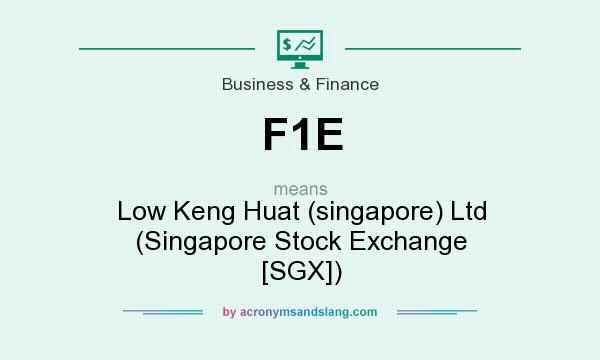 What does F1E mean? It stands for Low Keng Huat (singapore) Ltd (Singapore Stock Exchange [SGX])