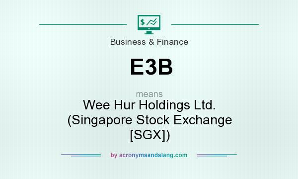 What does E3B mean? It stands for Wee Hur Holdings Ltd. (Singapore Stock Exchange [SGX])