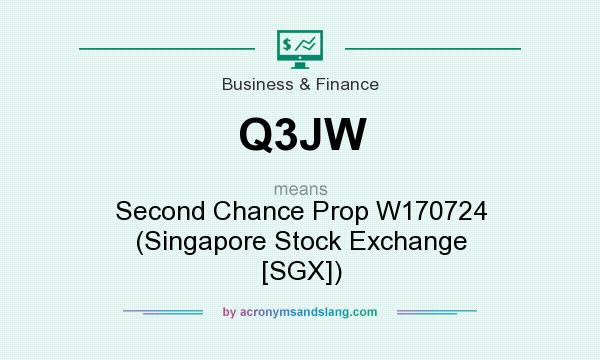 What does Q3JW mean? It stands for Second Chance Prop W170724 (Singapore Stock Exchange [SGX])