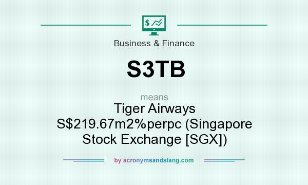 What does S3TB mean? It stands for Tiger Airways S$219.67m2%perpc (Singapore Stock Exchange [SGX])