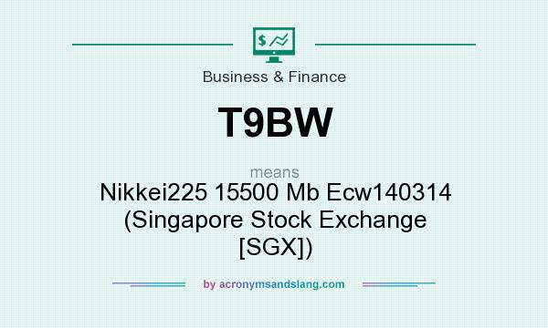 What does T9BW mean? It stands for Nikkei225 15500 Mb Ecw140314 (Singapore Stock Exchange [SGX])