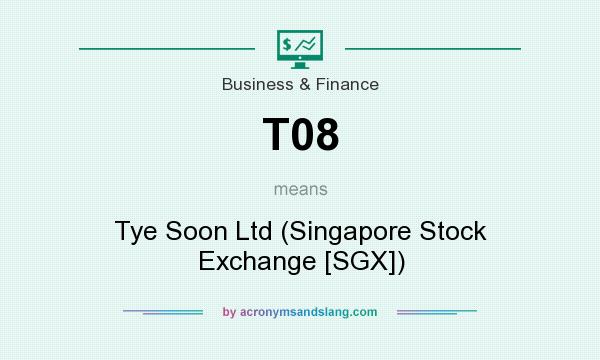 What does T08 mean? It stands for Tye Soon Ltd (Singapore Stock Exchange [SGX])