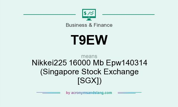 What does T9EW mean? It stands for Nikkei225 16000 Mb Epw140314 (Singapore Stock Exchange [SGX])