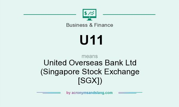 What does U11 mean? It stands for United Overseas Bank Ltd (Singapore Stock Exchange [SGX])