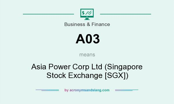 What does A03 mean? It stands for Asia Power Corp Ltd (Singapore Stock Exchange [SGX])