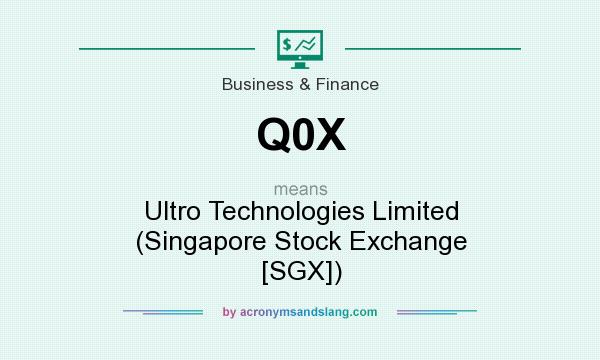 What does Q0X mean? It stands for Ultro Technologies Limited (Singapore Stock Exchange [SGX])