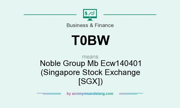 What does T0BW mean? It stands for Noble Group Mb Ecw140401 (Singapore Stock Exchange [SGX])