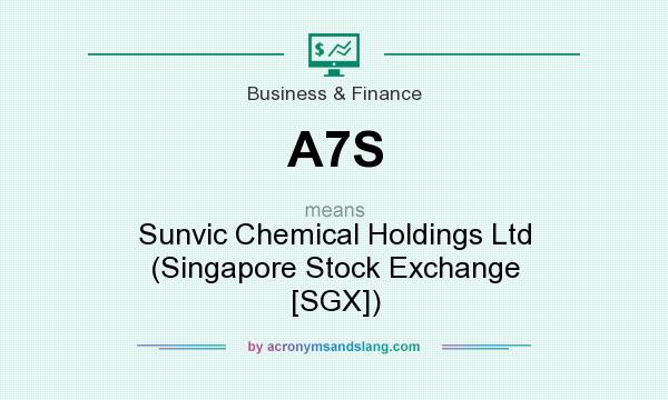 What does A7S mean? It stands for Sunvic Chemical Holdings Ltd (Singapore Stock Exchange [SGX])