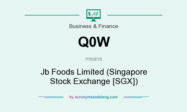 What does Q0W mean? It stands for Jb Foods Limited (Singapore Stock Exchange [SGX])