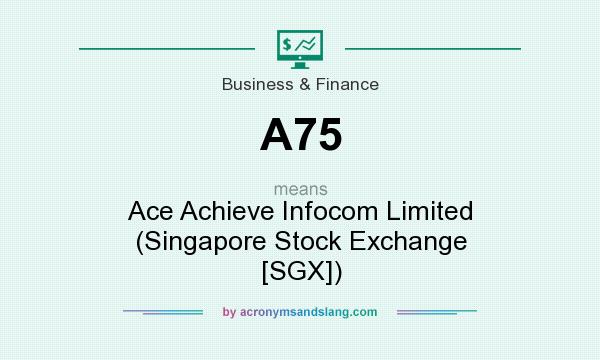 What does A75 mean? It stands for Ace Achieve Infocom Limited (Singapore Stock Exchange [SGX])