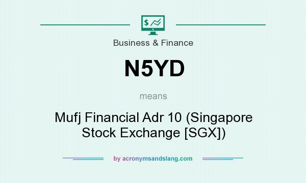 What does N5YD mean? It stands for Mufj Financial Adr 10 (Singapore Stock Exchange [SGX])