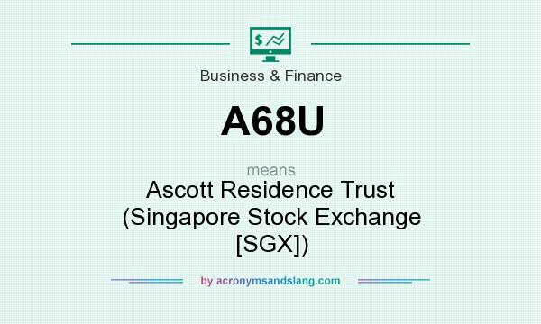 What does A68U mean? It stands for Ascott Residence Trust (Singapore Stock Exchange [SGX])