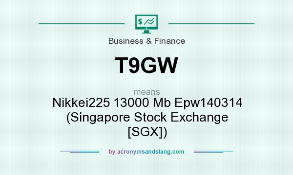 What does T9GW mean? It stands for Nikkei225 13000 Mb Epw140314 (Singapore Stock Exchange [SGX])