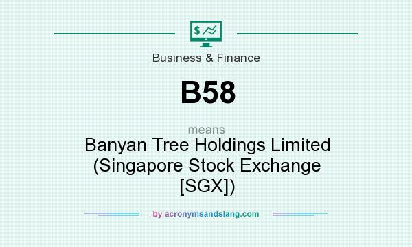 What does B58 mean? It stands for Banyan Tree Holdings Limited (Singapore Stock Exchange [SGX])