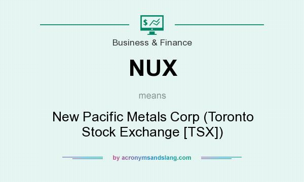 What does NUX mean? It stands for New Pacific Metals Corp (Toronto Stock Exchange [TSX])