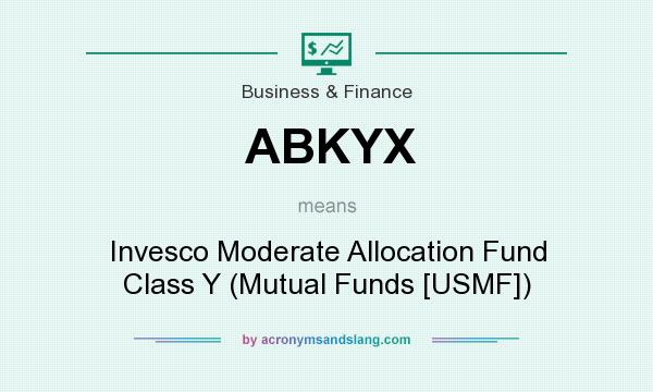What does ABKYX mean? It stands for Invesco Moderate Allocation Fund Class Y (Mutual Funds [USMF])