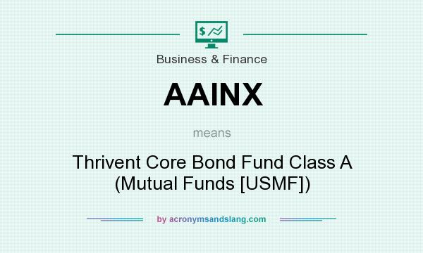 What does AAINX mean? It stands for Thrivent Core Bond Fund Class A (Mutual Funds [USMF])