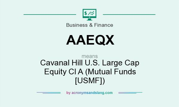 What does AAEQX mean? It stands for Cavanal Hill U.S. Large Cap Equity Cl A (Mutual Funds [USMF])