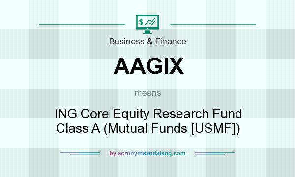 What does AAGIX mean? It stands for ING Core Equity Research Fund Class A (Mutual Funds [USMF])