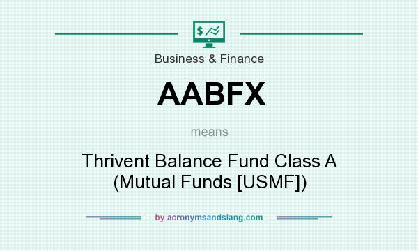 What does AABFX mean? It stands for Thrivent Balance Fund Class A (Mutual Funds [USMF])