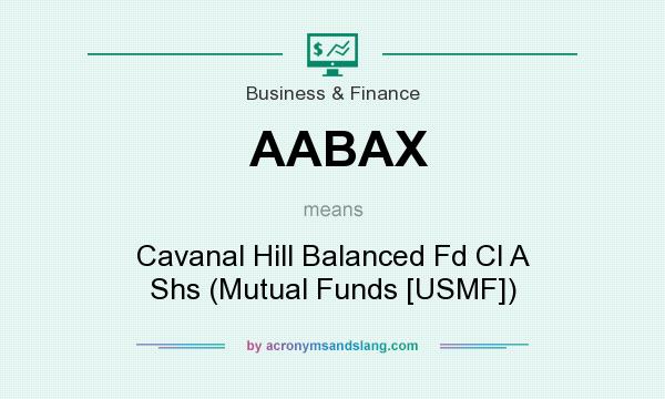 What does AABAX mean? It stands for Cavanal Hill Balanced Fd Cl A Shs (Mutual Funds [USMF])