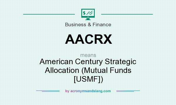 What does AACRX mean? It stands for American Century Strategic Allocation (Mutual Funds [USMF])
