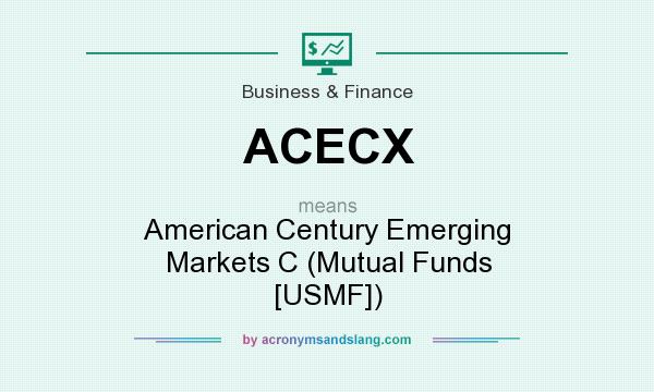 What does ACECX mean? It stands for American Century Emerging Markets C (Mutual Funds [USMF])