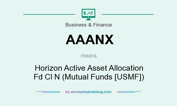 What does AAANX mean? It stands for Horizon Active Asset Allocation Fd Cl N (Mutual Funds [USMF])