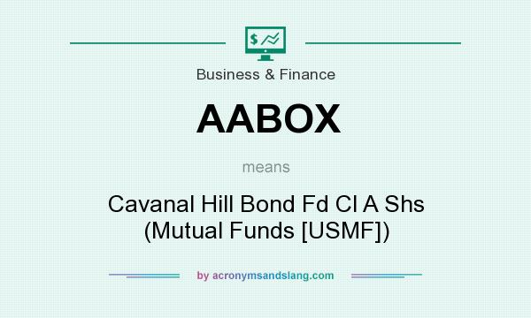 What does AABOX mean? It stands for Cavanal Hill Bond Fd Cl A Shs (Mutual Funds [USMF])