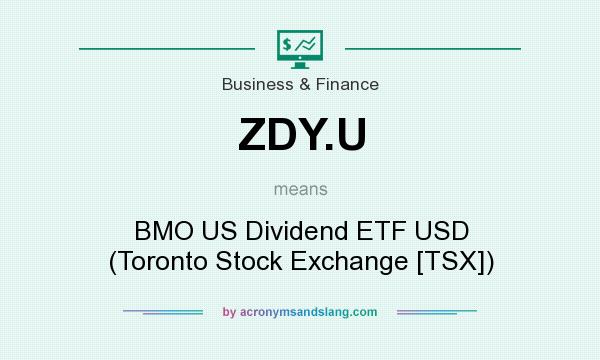 What does ZDY.U mean? It stands for BMO US Dividend ETF USD (Toronto Stock Exchange [TSX])