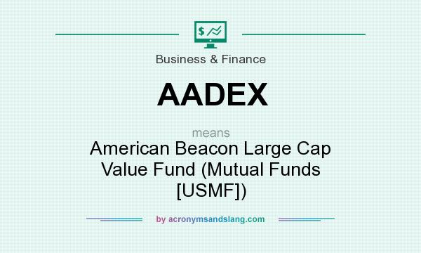 What does AADEX mean? It stands for American Beacon Large Cap Value Fund (Mutual Funds [USMF])