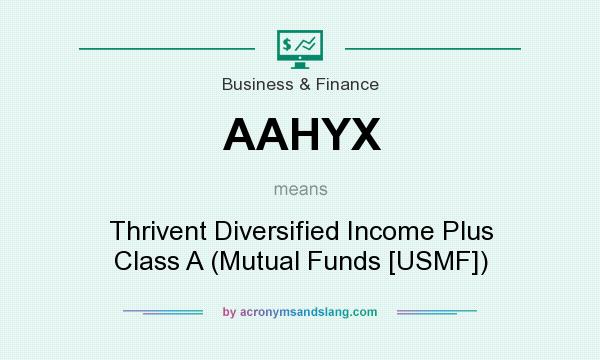 What does AAHYX mean? It stands for Thrivent Diversified Income Plus Class A (Mutual Funds [USMF])