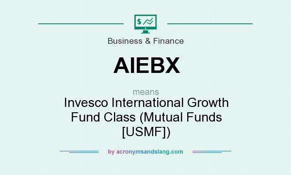 What does AIEBX mean? It stands for Invesco International Growth Fund Class (Mutual Funds [USMF])