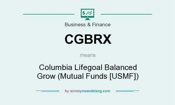 What does CGBRX mean? It stands for Columbia Lifegoal Balanced Grow (Mutual Funds [USMF])