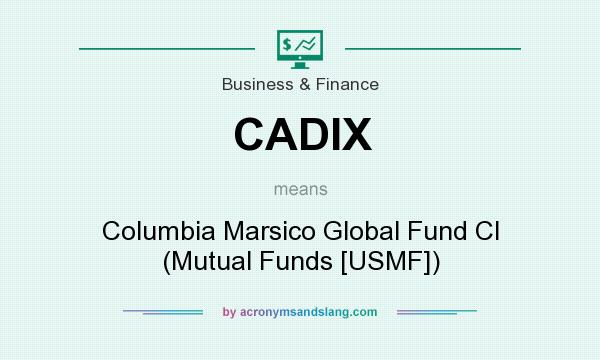 What does CADIX mean? It stands for Columbia Marsico Global Fund Cl (Mutual Funds [USMF])