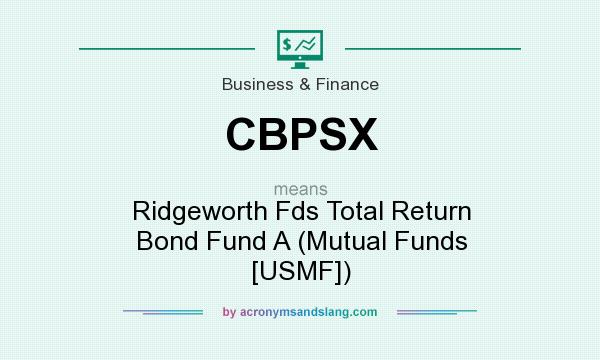 What does CBPSX mean? It stands for Ridgeworth Fds Total Return Bond Fund A (Mutual Funds [USMF])