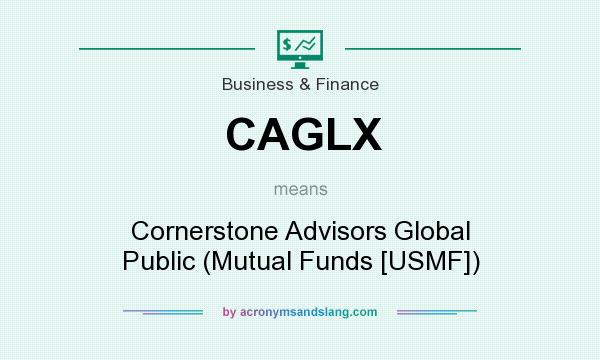 What does CAGLX mean? It stands for Cornerstone Advisors Global Public (Mutual Funds [USMF])