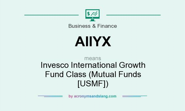 What does AIIYX mean? It stands for Invesco International Growth Fund Class (Mutual Funds [USMF])