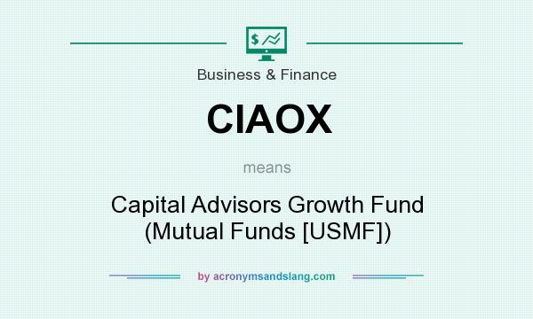 What does CIAOX mean? It stands for Capital Advisors Growth Fund (Mutual Funds [USMF])