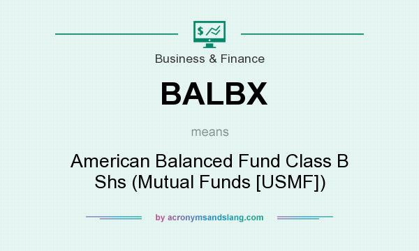 What does BALBX mean? It stands for American Balanced Fund Class B Shs (Mutual Funds [USMF])