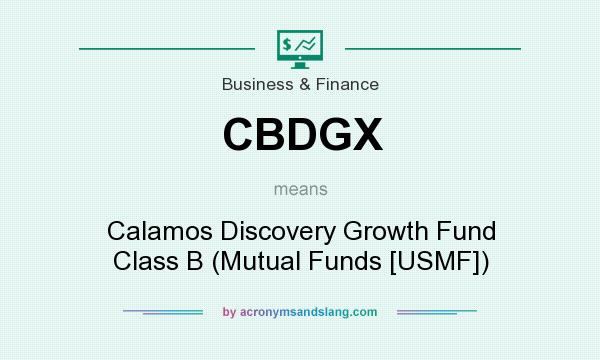 What does CBDGX mean? It stands for Calamos Discovery Growth Fund Class B (Mutual Funds [USMF])