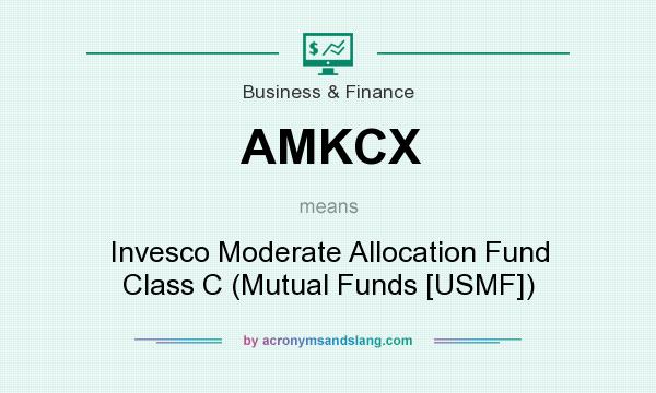 What does AMKCX mean? It stands for Invesco Moderate Allocation Fund Class C (Mutual Funds [USMF])