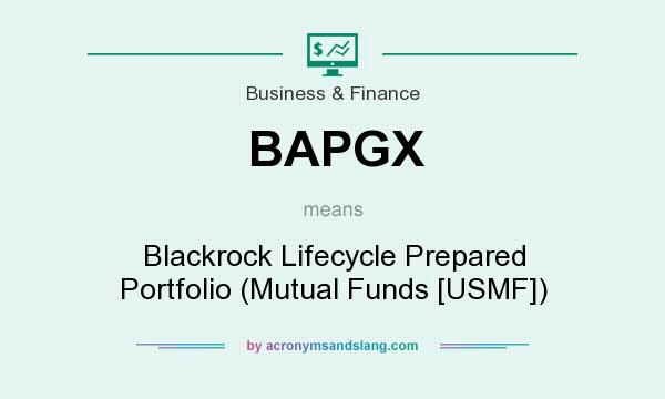 What does BAPGX mean? It stands for Blackrock Lifecycle Prepared Portfolio (Mutual Funds [USMF])