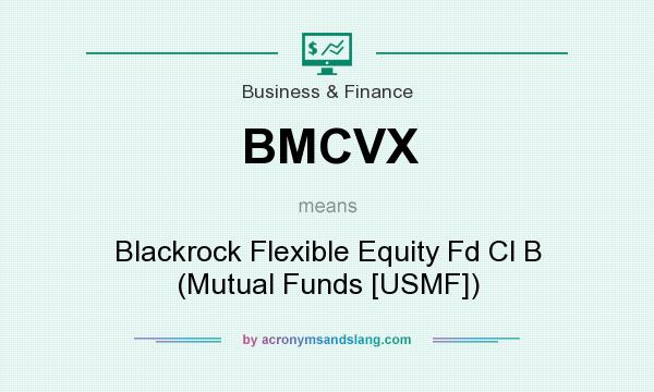 What does BMCVX mean? It stands for Blackrock Flexible Equity Fd Cl B (Mutual Funds [USMF])