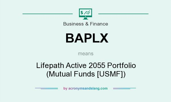 What does BAPLX mean? It stands for Lifepath Active 2055 Portfolio (Mutual Funds [USMF])
