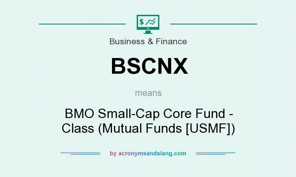 What does BSCNX mean? It stands for BMO Small-Cap Core Fund - Class (Mutual Funds [USMF])