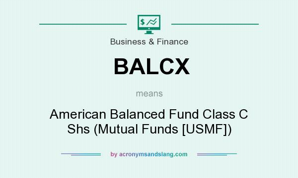 What does BALCX mean? It stands for American Balanced Fund Class C Shs (Mutual Funds [USMF])